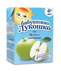 Сок, Бабушкино лукошко 200 мл яблоко осветленный без сахара с 4 мес тетрапак